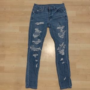 American eagle Tom girl ripped jeans